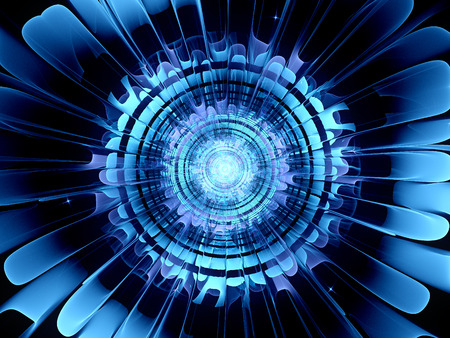 Futuristic blue new technology, computer generated abstract background
