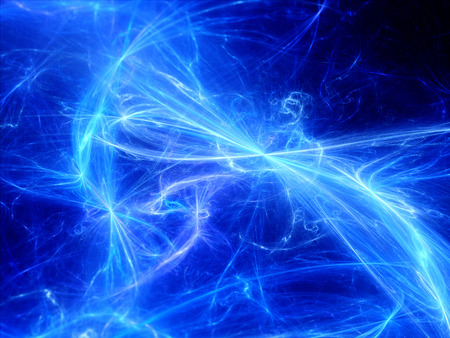 high beams: Glowing plasma curves in space, computer generated abstract background