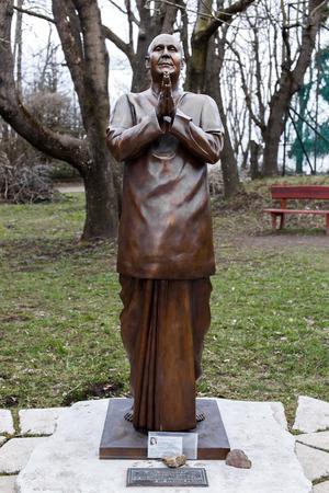 sri yantra: Sri Chinmoy statue, Dobogoko, Hungary