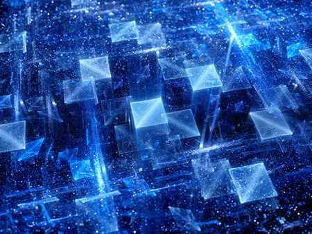 new technologies: Magical glowing squares , new technologies, comuter generated abstract background