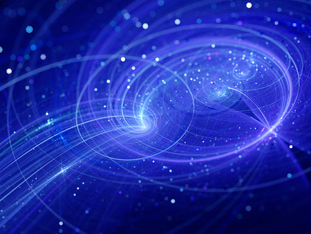 interstellar: Interstellar trajectories in space, computer generated abstract background Stock Photo
