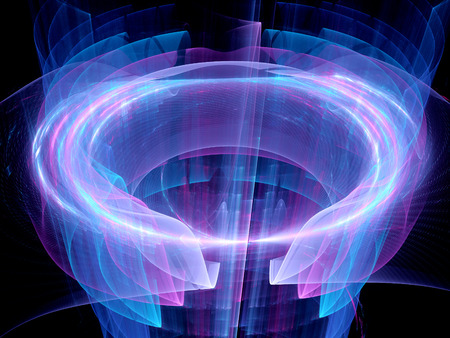 High power circular energy field, computer generated abstract background