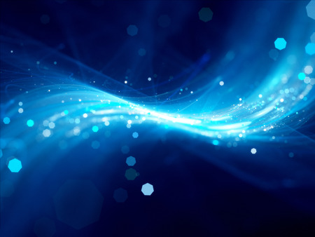 Blue glowing new technology background with particles computer generated abstract background