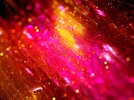 out of focus: Colorful fractal glowing particles, out of focus, computer generated abstract background