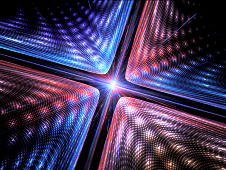 quantum: Quantum mechanics, particle with wave attribution, computer generated abstract fractal background