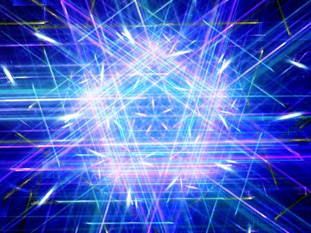 pentagon: Glowing multicolored pentagon, new technology, computer generated abstract background