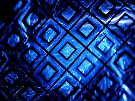 superconductivity: Blue glowing gpu grid in cyberspace, grid computing, computer generated abstract background Stock Photo