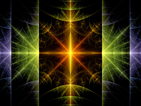 Colorful nuclear fission fractal, computer generated abstract background photo