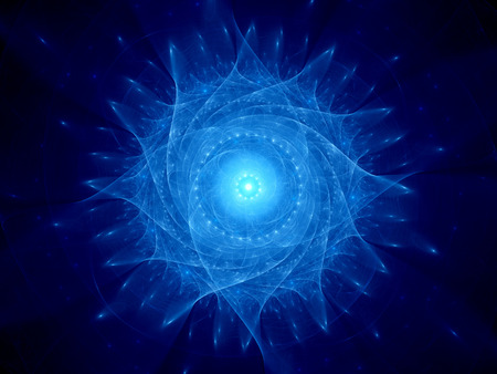 Blau leuchtende galaktischen Objekt, Computer generiert abstrakte Hintergrund Standard-Bild - 43461468