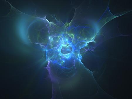 genesis: Blue glowing genesis in space, computer generated abstract background