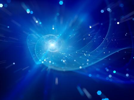 galaxie: Blau Spiralgalaxie im Weltraum, Computer generiert abstrakte Hintergrund