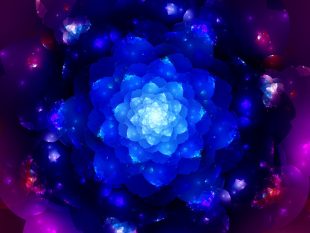 generated: Colorful space mandala, computer generated abstract background