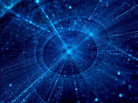 gravedad: Centros interestelares en el espacio, generado por ordenador resumen de antecedentes Foto de archivo