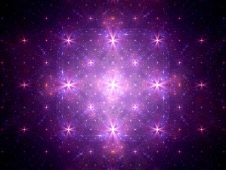 stars background: Purple stars fractal artwork, computer generated abstract background