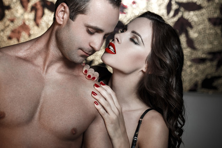 adult sex: Sexy lovers foreplay at luxury flat, sensual milf foreplay with young man