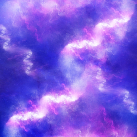 cold fusion: Colorful glowing high energy nebula in space, computer generated abstract background