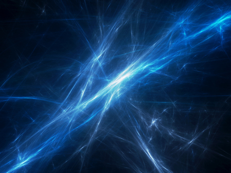 Blue glowing force fields in space, computer generated abstract background