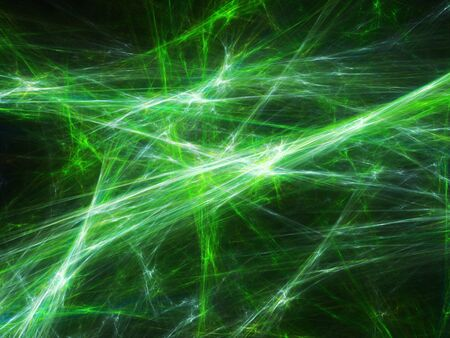 electric green: Green plasma explosion in space, computer generated abstract background Stock Photo