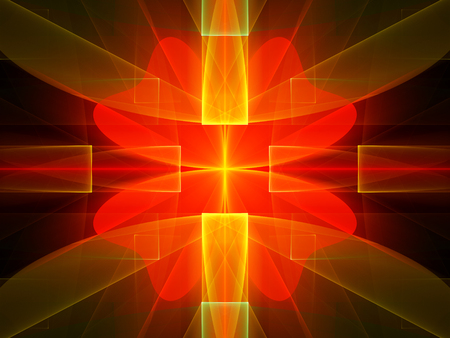 multicolored: Multicolored glowing technology fractal, computer generated abstract background