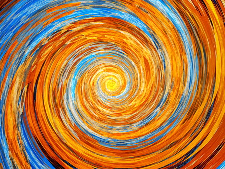 orange swirl: Colorful spiral fractal, computer generated abstract background