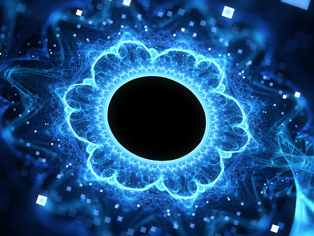 wormhole: Blue glowing magic wormhole, computer generated abstract background