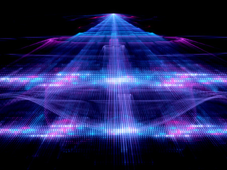 multilevel: Multilevel big data analysis or quantum computer, generated abstract background