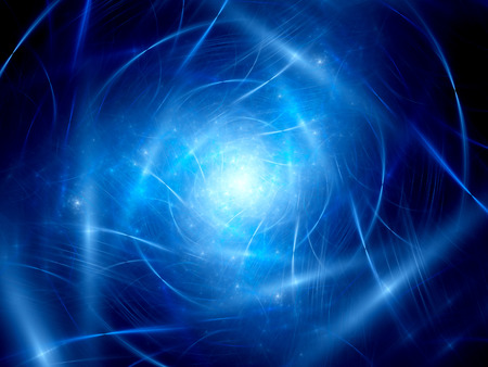 cosmos: Glowing trajectories in space with nebula, computer generated abstract background Stock Photo