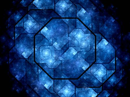 octagon: Octagon shaped nanocrystal grid, computer generated abstract background