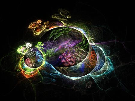 psychodelic: Colorful fantasy fractal, computer generated abstract background