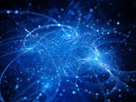 fiberglass: azul brillante tecnología espacial futurista con partículas, generadas por ordenador resumen de antecedentes Foto de archivo