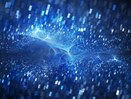 fission: Big bang of future technologies, computer generated abstract background