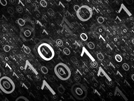 intensity: Binary code intensity map, computer generated abstract background