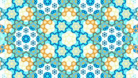 background kaleidoscope: Oriental symmetrical kaleidoscope fractal, computer generated abstract background