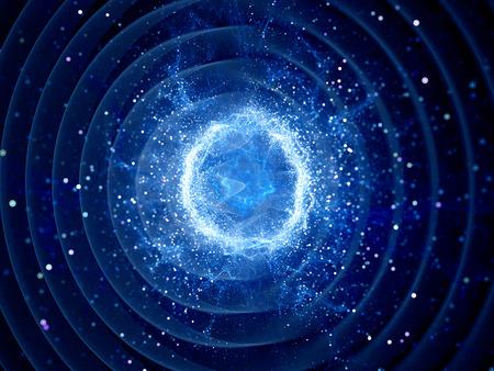강한 힘 필드에 의해 버스트 Gravitaional 파, 컴퓨터 추상적 인 배경 스톡 콘텐츠
