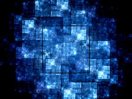 new technology: Blue new technology fractal, computer generated abstract background Stock Photo