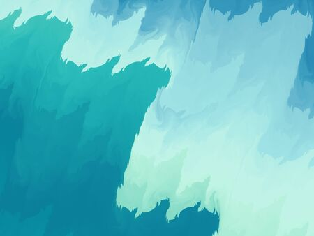 energy background: Blue abstract fractal, watercolor style, computer generated abstract background Stock Photo