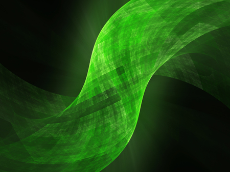 nanotube: Green glowing tube surface in space, computer generated abstract background