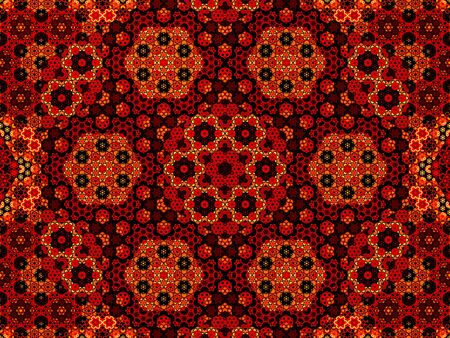 fiery: Fiery arabic fractal pattern, computer generated abstract background