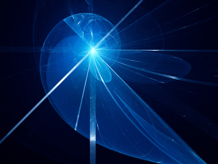 fibonacci: Blue glowing fibonacci spiral fractal, computer generated abstract background Stock Photo