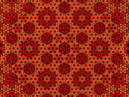 fiery: Fiery oriental fractal pattern, computer generated abstract background