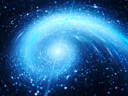 Blau leuchtende Spiralgalaxie, Computer generiert abstrakte Hintergrund