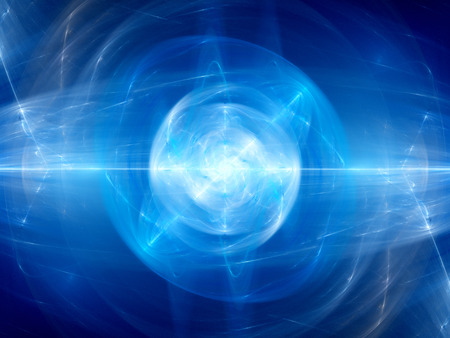 fusion: Blue glowing fusion in space, computer generated abstract background