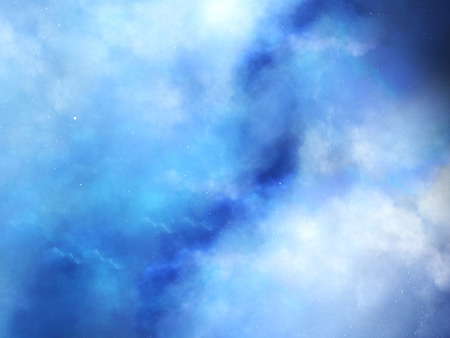 gaseous: Blue fog in deep space, computer generated abstract background