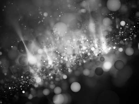 intensity: Bubble bokeh in space intensity map, black and white, computer generated intensity map