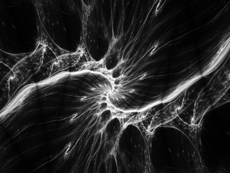 intensity: Energy fractal black and white, computer generated abstract intensity map