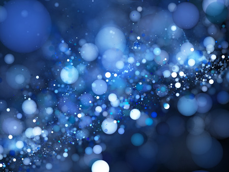 Blue glowing bubbles in space fractal, computer generated abstract background Standard-Bild