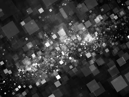 intensity: Glowing squares in space abstract background, computer generated intensity map