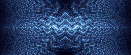 texture fantasy: Blue glowing wavy fractal, computer generated abstract background