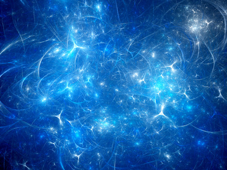 hormon: Blue glowing synapses, computer generated abstract background Stock Photo