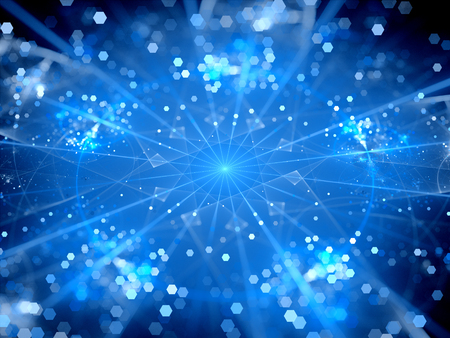 hubs: Blue glowing big data hubs , network theory, computer generated abstract background Stock Photo